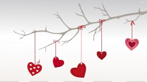 Red Heart Hanging on Branch
